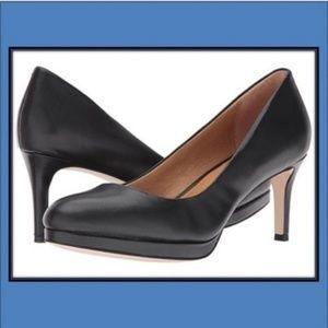 """Corso Como """"Lara"""" Black Leather Heels Pumps"""